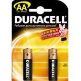 Батарейка Duracell AA (LR6) MN1500 (пальчиковая d14,5 высота 50,5) щелочная 1,5В ( 2 шт)