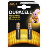 Батарейка Duracell AAA (LR03) MN2400 (полупальчиковая d10,5 высота 44,5) щелочная 1,5В ( 2 шт)