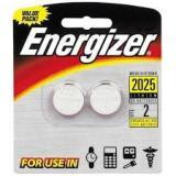 Батарейка Energizer 2025 (таблетка d20 высота 2,5) литиевая 3В (2 шт)