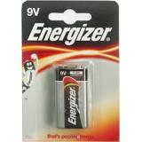 Батарейка Energizer 9V (6LR61) (крона длина 25,5 ширина 16,5 высота 47,5) щелочная 9В