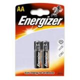Батарейка Energizer AA (LR6) (пальчиковая d14,5 высота 50,5) щелочная 1,5В ( 2 шт)