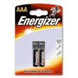 Батарейка Energizer AAA (LR03) (полупальчиковая d10,5 высота 44,5) щелочная 1,5В ( 2 шт)