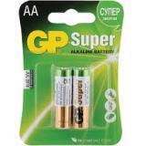 Батарейка GP AA (LR6) (пальчиковая d14,5 высота 50,5) щелочная 1,5В ( 2 шт)