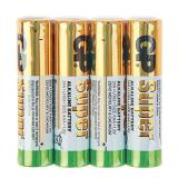 Батарейка GP AAA (LR03/4SH) (полупальчиковая d10,5 высота 44,5) щелочная 1,5В ( 4 шт) SUPER