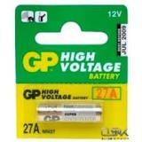 Батарейка GP A27 (MN27) (d8 высота 28) щелочная 12В