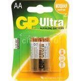 Батарейка GP AA (LR6/2BL) (пальчиковая d14,5 высота 50,5) щелочная 1,5В ( 2 шт) ULTRA
