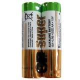 Батарейка GP AA (LR6/2SH) (пальчиковая d14,5 высота 50,5) щелочная 1,5В ( 2 шт) SUPER