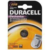 Батарейка Duracell 2016 (таблетка d20 высота 1,6) литиевая 3В