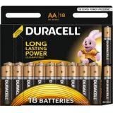 Батарейка Duracell AA (LR6) MN1500 (пальчиковая d14,5 высота 50,5) щелочная 1,5В (18 шт)