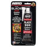 Герметик ABRO (оригинал)  силиконовый черный 999 85гр.